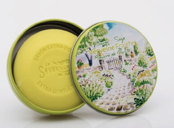Verbena Soap in round Tin - Petite France Australia