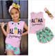 ALOHA girls summer 3 pcs set