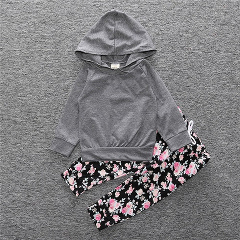 Hoodie and pants girl set