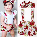 2PCS floral baby girl set