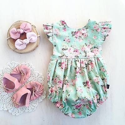 Baby Girl Summer Flying Sleeveless Jumpsuit