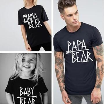 Family Match T-Shirt Papa and Mama bear