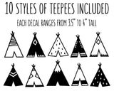 Teepee Wall Decals