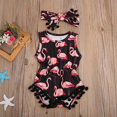 2Pcs/Set Baby Girls Romper