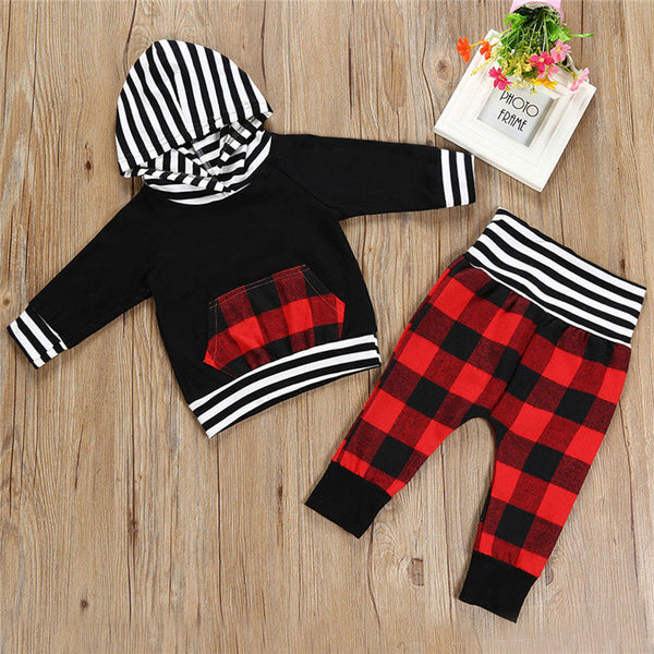 Baby Boys Hooded Outfit