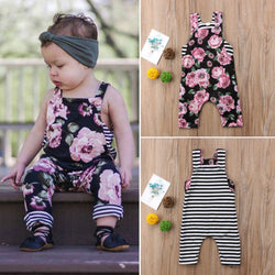 Baby Girls Floral striped Jumpsuit