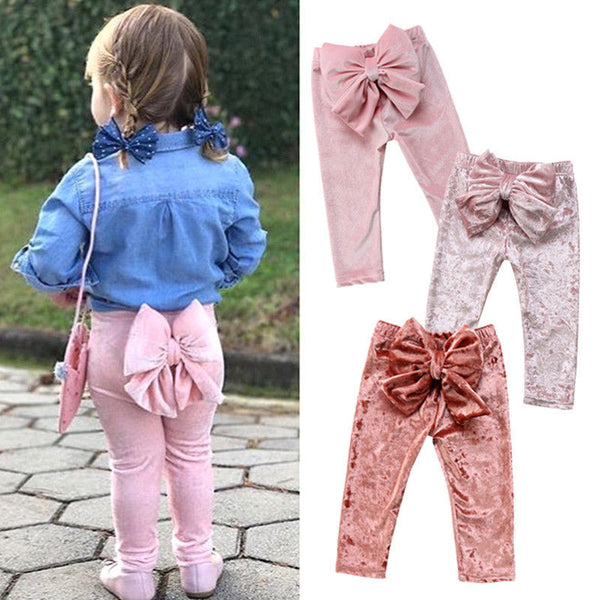 Baby Girl Bowknot Pants