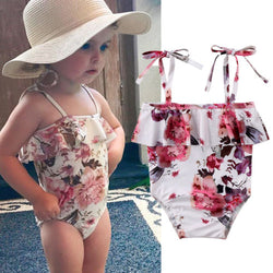 Baby Girls Floral Print Swimsuit