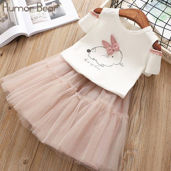 Summer Girl Pink Rabbit Top & Skirt
