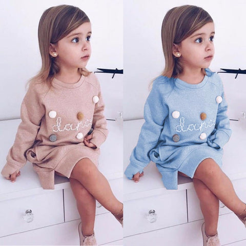 Girls Long Hoodie Dress