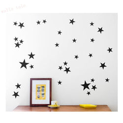 Gold Stars Wall Stickers for Kids Rooms Home Decor