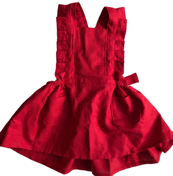 Emilia Dress - Holiday Red