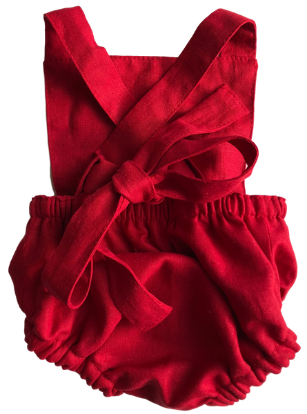 Classic Vintage Romper - Holiday Red