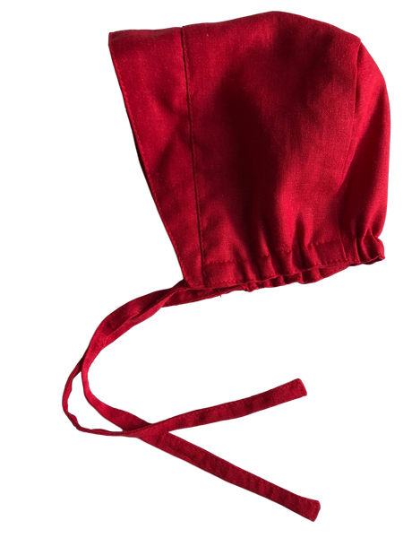 Brimmed Bonnet - Holiday Red