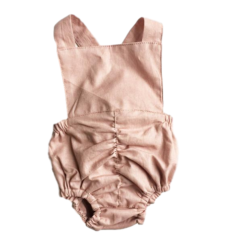 Classic Vintage Romper - Dusty Rose