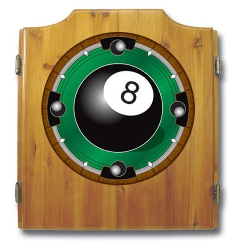 8 Ball Dart Cabinet includes Darts and Board