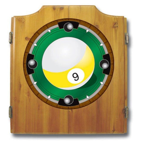 9 Ball Dart Cabinet includes Darts and Board