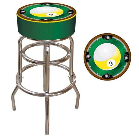 9 Ball Padded Bar Stool