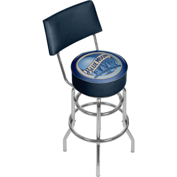 Blue Moon Padded Bar Stool with Back