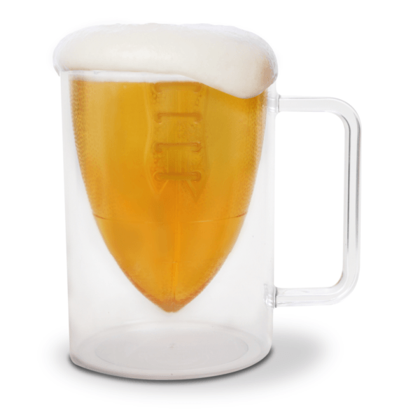 Bottoms Up! Football Beer Mug