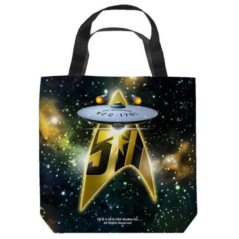 Star Trek 50th Anniversary Ship Tote Bag
