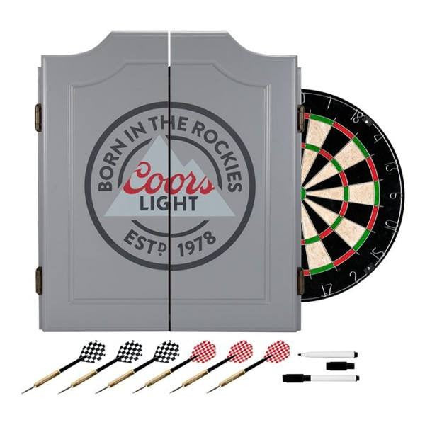 Coors Light Dart Cabinet with darts