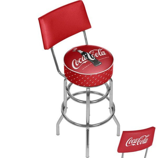 Coca Cola Bar Stool with Back