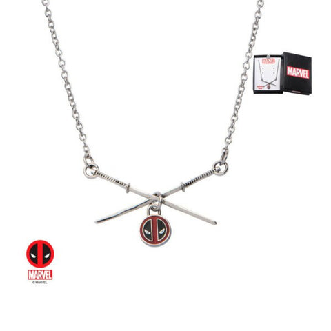 Marvel Deadpool Sword Logo Pendant Necklace