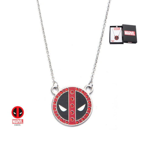 Marvel Deadpool with Gem Pendant Necklace