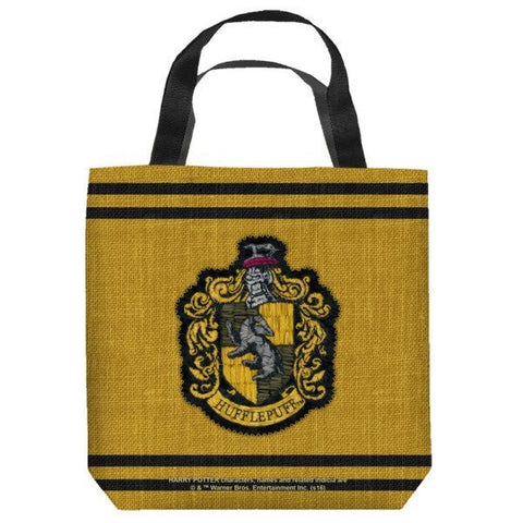 Harry Potter Hufflepuff Stitch Crest Tote Bag