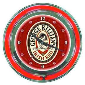 George Killians Neon Clock