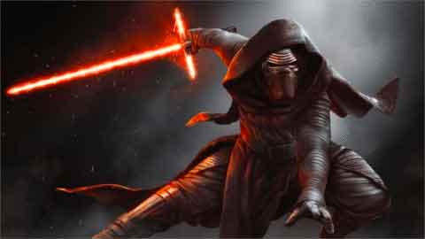Star Wars Kylo Ren Illuminating Canvas (Large)