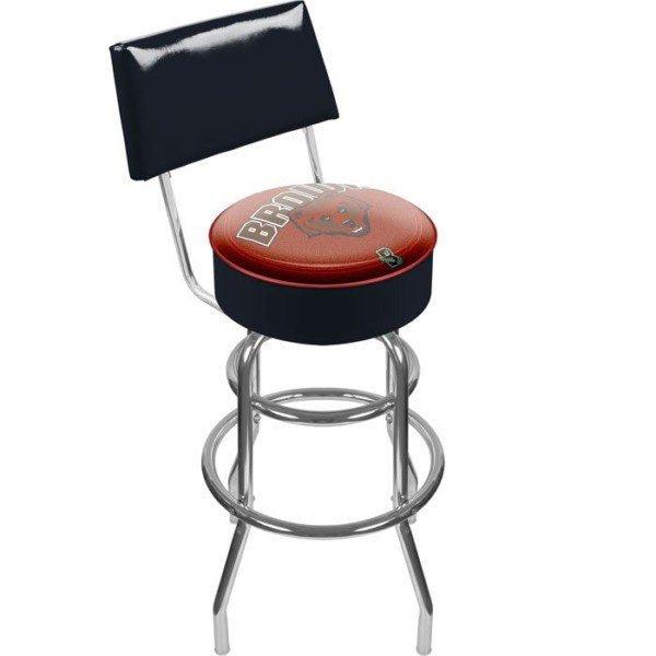 Brown University Padded Bar Stool with Back