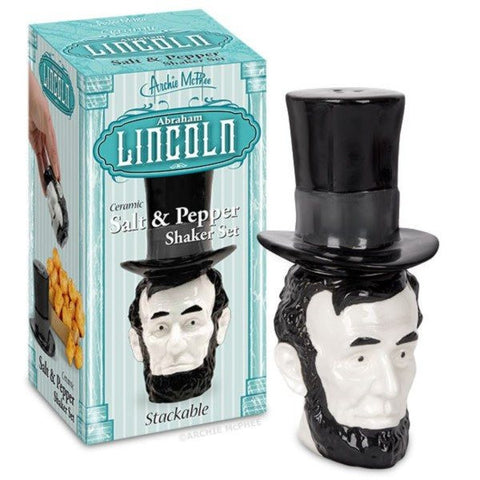 Abraham Lincoln Salt and Pepper Shakers Set