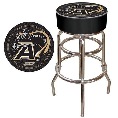 Army Black Knights Padded Bar Stool