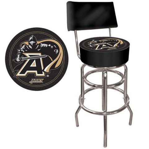 Army Black Knights Padded Bar Stool with Back