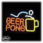 Beer Pong Neon Sculpture Light
