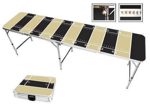 Black & Light Gold Football Field Beer Pong Table