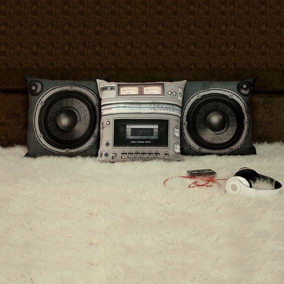 Boombox Pillow Cover