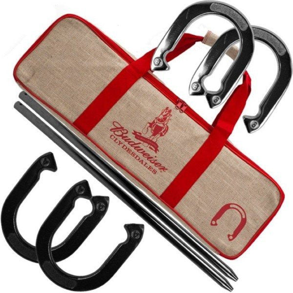 Budweiser Horseshoe Set with Carry Case