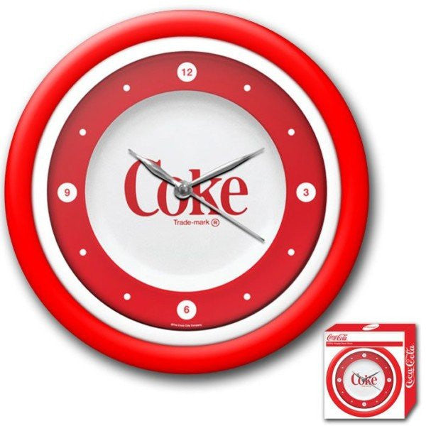 Coca-Cola Clock White Neon 1970s