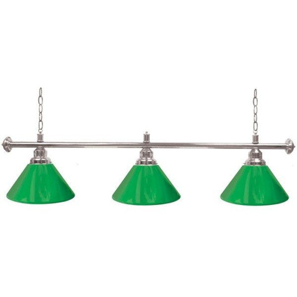 Contemporary Billiard Pool Table Light Green and Silver