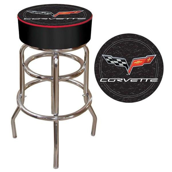 Corvette C6 Padded Bar Stool Black