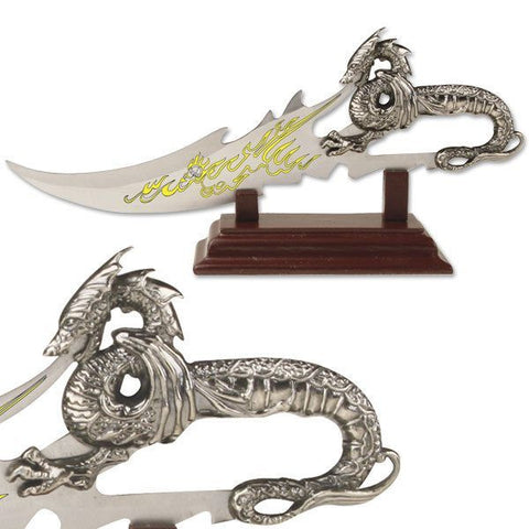Dagger with Zinc Alum Dragon Handle with Stand