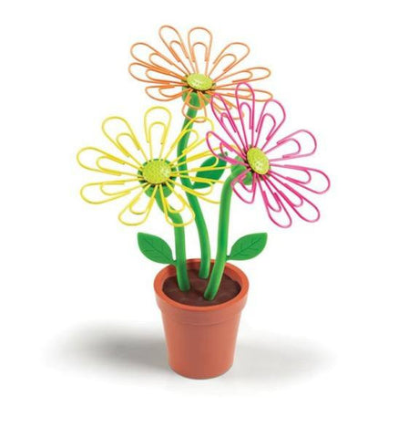 Desk Daisy Petal Shaped Paperclip Holder