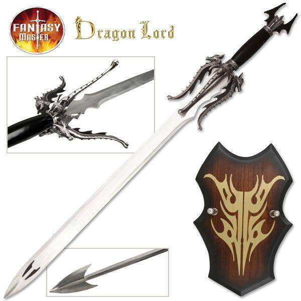 Dragon Lord Sword with Wall Plaque