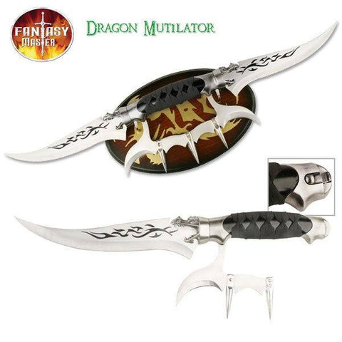 Dragon Mutilator Double Dagger with Plaque