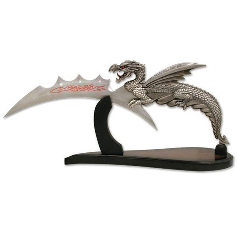 Dragon Slayer Knife with Stand by Tom Anderson