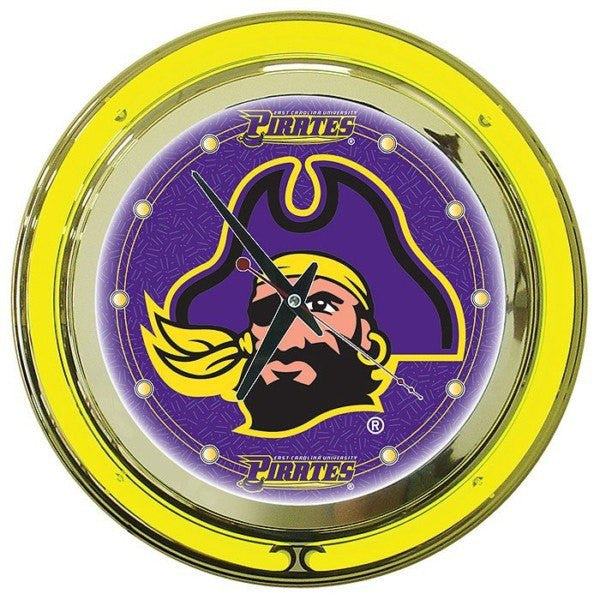 East Carolina University Neon Clock