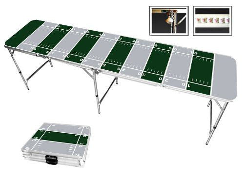 Gray & Green Football Field Beer Pong Table